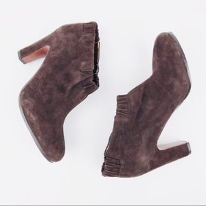 Sam Edelman Suede Leather Ankle Booties Sz 8.5